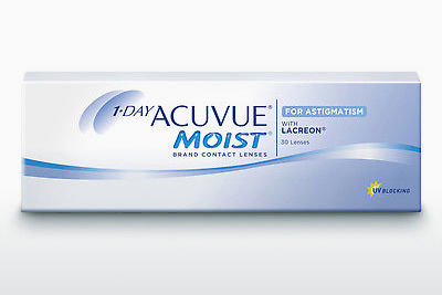Lentilles de contact Johnson & Johnson 1 DAY ACUVUE MOIST for ASTIGMATISM 1MA-30P-REV