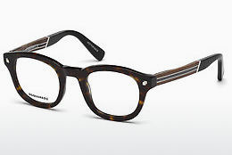 Lunettes design Dsquared DQ5230 052 - Brunes, Dark, Havana