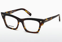 Lunettes design Dsquared DQ5234 052 - Brunes, Dark, Havana