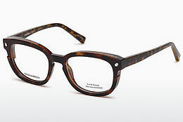 Lunettes design Dsquared DQ5236 052 - Brunes, Dark, Havana