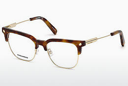 Lunettes design Dsquared DQ5243 053 - Havanna, Yellow, Blond, Brown