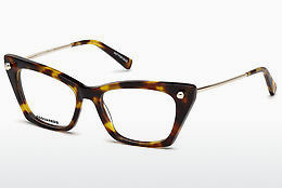Lunettes design Dsquared DQ5245 052 - Brunes, Dark, Havana