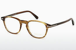 Lunettes design Tom Ford FT5389 048 - Brunes, Dark, Shiny