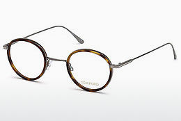 Lunettes design Tom Ford FT5521 053 - Jaunes, Brunes, Havanna