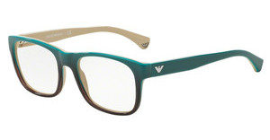 Emporio Armani EA3056 5345 GREEN GRADIENT BROWN ON BEIGE