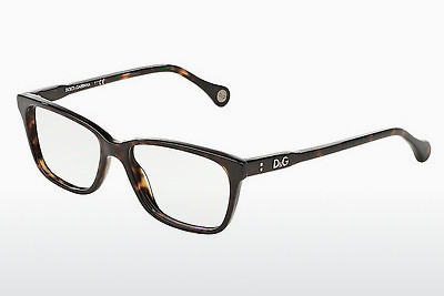 Lunettes design D&G VIBRANT COLOURS (DD1238 502) - Brunes, Havanna