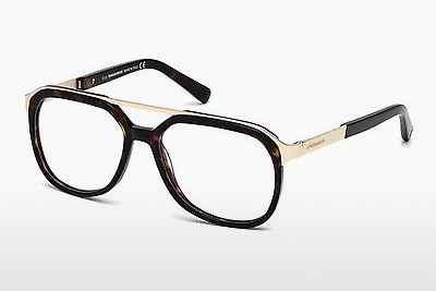 Lunettes design Dsquared DQ5190 052 - Brunes, Dark, Havana