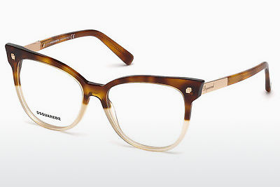 Lunettes design Dsquared DQ5214 055 - Multicolores, Brunes, Havanna