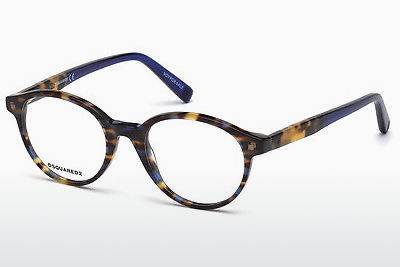 Lunettes design Dsquared DQ5227 055 - Multicolores, Brunes, Havanna