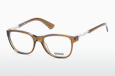 Lunettes design Guess GU2562 045 - Brunes, Bright, Shiny