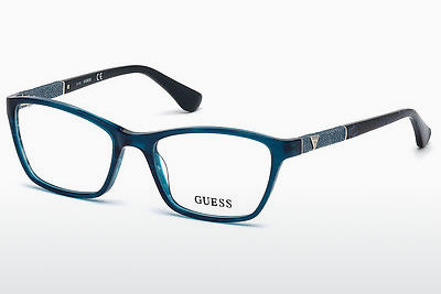 Lunettes design Guess GU2594 087 - Bleues, Turquoise, Shiny