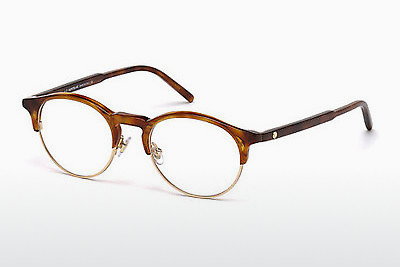 Lunettes design Mont Blanc MB0555 053 - Havanna, Yellow, Blond, Brown