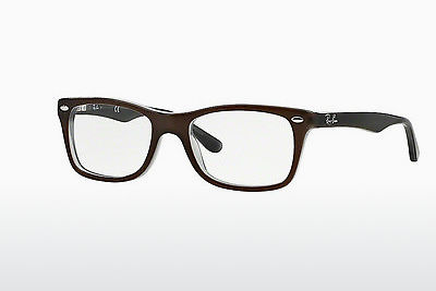Lunettes design Ray-Ban RX5228 5076 - Brunes
