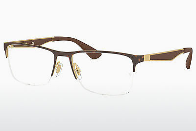 Eyewear Ray-Ban RX6335 2917 - Gold, Brown, Havanna