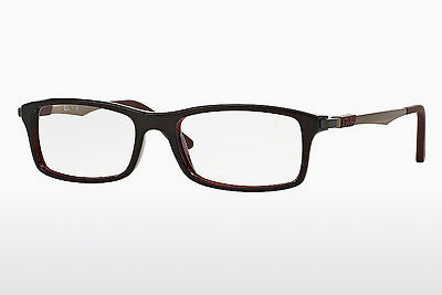 Lunettes design Ray-Ban RX7017 5552 - Rouges