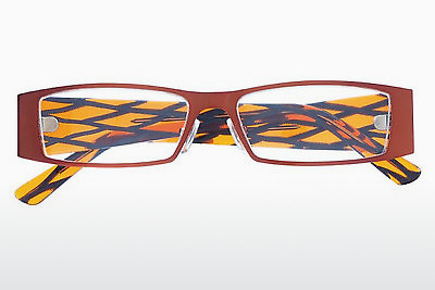 Lunettes design Tim Dilsen TD3434 - Orange, Grises