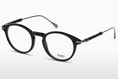 Lunettes design Tod's TO5170 001 - Noires, Shiny