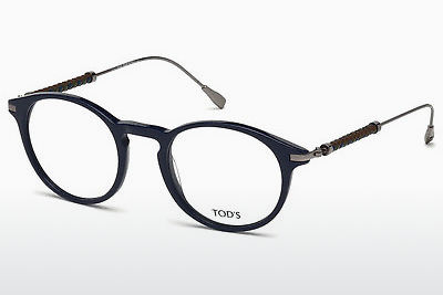 Lunettes design Tod's TO5170 090 - Bleues, Shiny