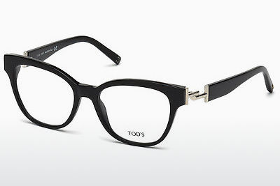 Lunettes design Tod's TO5172 001 - Noires, Shiny