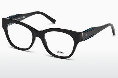 Lunettes design Tod's TO5174 001 - Noires, Shiny