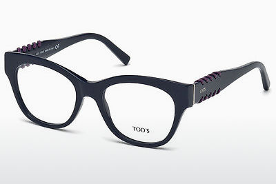 Lunettes design Tod's TO5174 090 - Bleues, Shiny