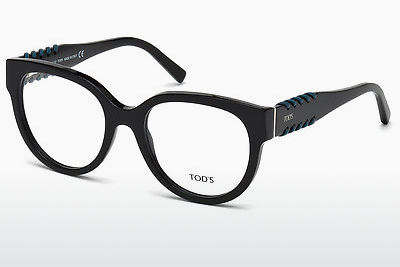 Lunettes design Tod's TO5175 001 - Noires, Shiny