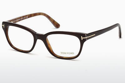 Lunettes design Tom Ford FT5207 050 - Brunes, Dark