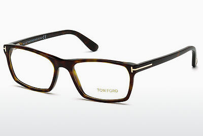 Lunettes design Tom Ford FT5295 52A - Brunes, Dark, Havana