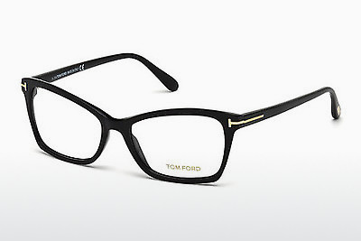 Lunettes design Tom Ford FT5357 001 - Noires, Shiny
