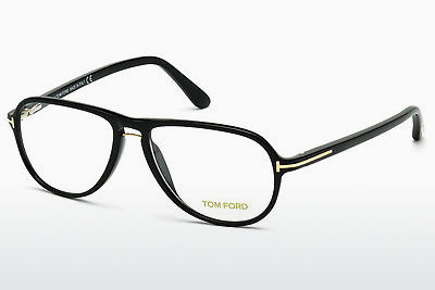 Lunettes design Tom Ford FT5380 001 - Noires, Shiny