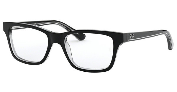 Ray-Ban Junior RY1536 3529 TOP BLACK ON TRANSPARENT