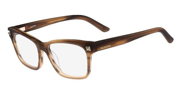 Valentino V2667 208 STRIPED DARK BROWN-MAT