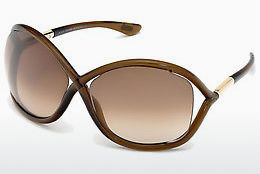 Lunettes de soleil Tom Ford Whitney (FT0009 692) - Brunes, Dark, Shiny