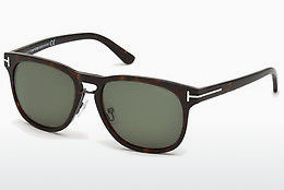 Lunettes de soleil Tom Ford Franklin (FT0346 56N) - Brunes, Havanna