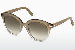 Lunettes de soleil Tom Ford Monica (FT0429 59B) - Corne, Beige, Brown