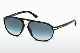 Lunettes de soleil Tom Ford Jacob (FT0447 01P) - Noires, Shiny