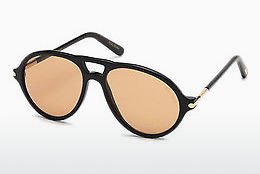 Lunettes de soleil Tom Ford Tom N.10 (FT0491-P 63E) - Brunes, Ivory, Black
