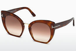 Lunettes de soleil Tom Ford Samantha (FT0553 53F) - Havanna, Yellow, Blond, Brown