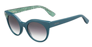 Jimmy Choo MIRTA/S Q4S/5M GREY DS AQUABL GRNGLT (GREY DS AQUA)