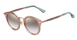 Jimmy Choo RAFFY/S QAU/NH BROWN MS GLDRD GLTTRD (BROWN MS GLD)