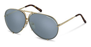 Porsche Design P8613 B-brown brown + light blue, silver mirroredgold