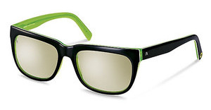 Rocco by Rodenstock RR309 A titanium mirror - 66%black/ green layered