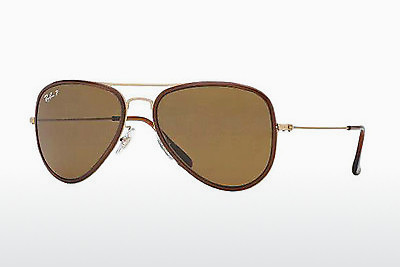 Lunettes de soleil Ray-Ban AVIATOR FLAT METAL (M) (RB3513M 149/83) - Or