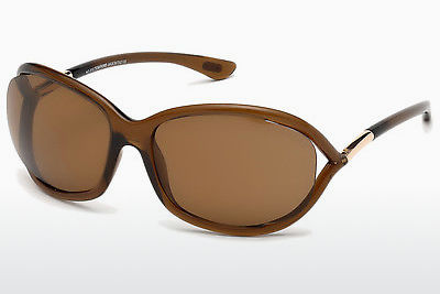 Ophthalmic Glasses Tom Ford Jennifer (FT0008 48H) - Brown, Dark, Shiny
