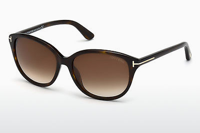Lunettes de soleil Tom Ford Karmen (FT0329 52F) - Brunes, Havanna