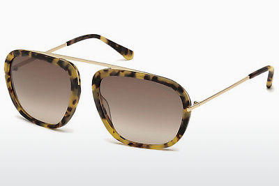 Lunettes de soleil Tom Ford Johnson (FT0453 53F) - Havanna, Yellow, Blond, Brown