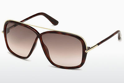 Lunettes de soleil Tom Ford Brenda (FT0455 52F) - Brunes, Dark, Havana