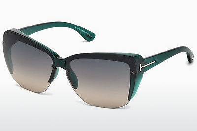 Lunettes de soleil Tom Ford FT0457 87B - Bleues, Turquoise, Shiny