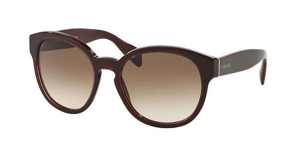 Prada PR 18RS UAN0A6 BROWN GRADIENTOPAL BORDEAUX ON BORDEAUX