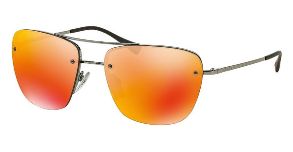 Prada Sport PS 52RS 5AV5M0 BROWN MIRROR ORANGEGUNMETAL